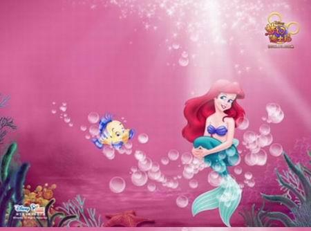 《梦幻迪士尼》中的小美人鱼[美丽的人鱼公主在《梦幻迪士尼》中守护