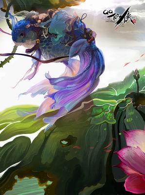 腾讯美术大师手绘《qq仙侠传》精美插画