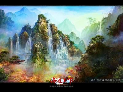 低配置环境下却能保证高质量游戏画面地通畅运行,东方神话网游大作