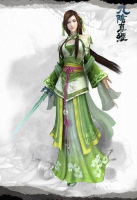 手绘古代美女武侠