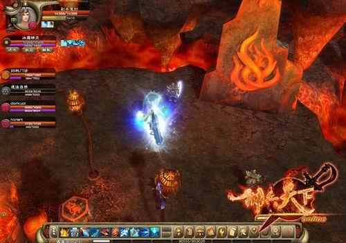 游戏岩浆路面贴图素材