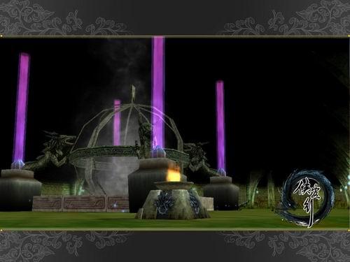 祭台欧式游戏场景设计